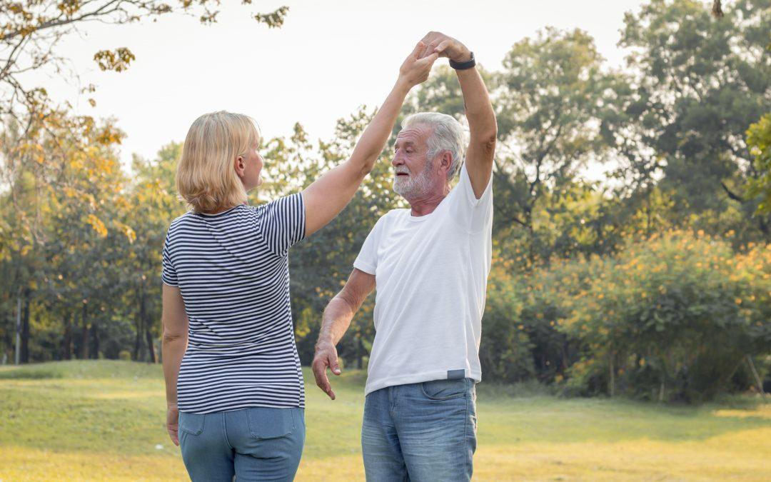 Senior couples dance